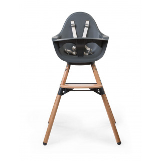 Chaise haute Childhome Evolu ONE.80° - NUANCE - Naturel / Anthracite