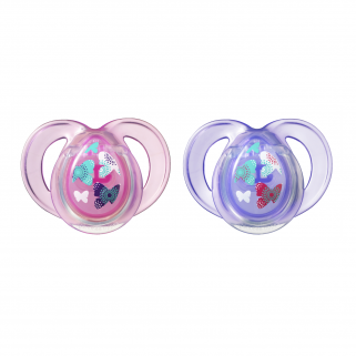 Tommee tippee- 2 sucettes 0-6m anytime