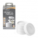 Tommee tippee - lot 4 couvercles blanc
