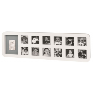 Baby art - first years print frame white/grey