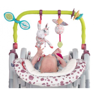 Kit 0m+ Chicco pour chaise polly progress/polly 2 start(barre de jeux+reduct.)