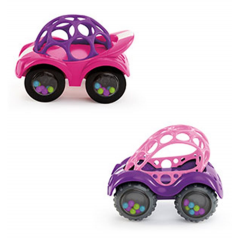 Oball - petite voiture rattle & roll pink