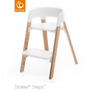 Stokke - chaise steps pieds de chaise hetre naturel( commander assise en + )