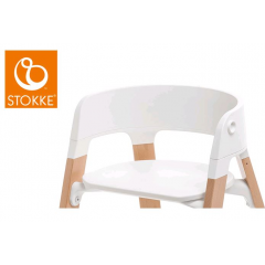 Stokke - chaise steps assisse blanche (pied a commander separement)
