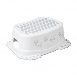 Di baby - marche pieds antiderapant hibou blanc