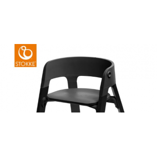 Stokke - chaise steps assisse noir (pied a commander separement)