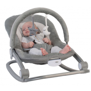Bo jungle - transat gris (0 - 18kg) rocker grey