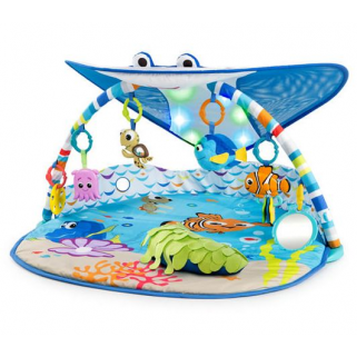 Bright starts - tapis d'eveil lumineux mr. ray ocean lights activity gym