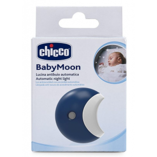 Chicco - veilleuse de nuit automatique led baby moon recupel et bebat inclus