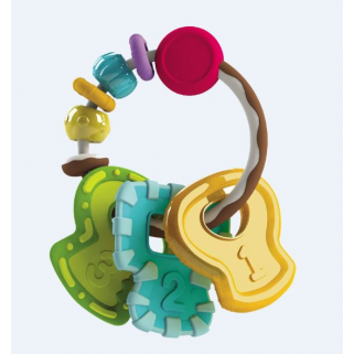 Infantino - go-gaga anneau de dentition slide chew teether keys