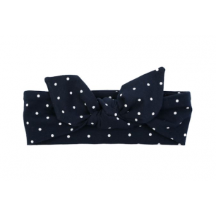 Ul&ka - headband-bandeau navy with dots size 0-3 m