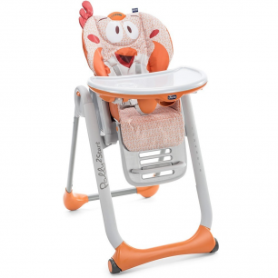 Chicco - chaise haute polly 2 start fancy chicken 4 roues