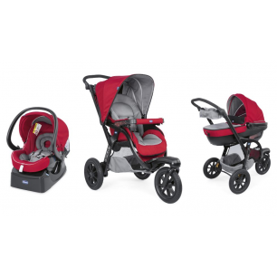 Chicco - pack promo trio poussette activ3 top red berry