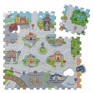 Chicco - tapis dalles puzzle city