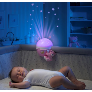 Chicco - first dream veilleuse musicale  next 2 stars projecteur  rose