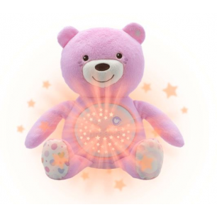 Chicco - first dream peluche ourson projecteur baby bear rose
