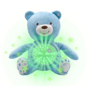 Chicco - first dream peluche ourson projecteur baby bear bleu