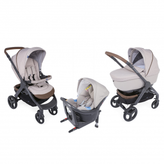 Chicco - pack promo trio poussette style go up i-size beige