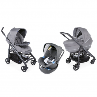Chicco - pack promo trio poussette love up cool grey