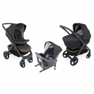Chicco - pack promo trio poussette style go up i-size graphite