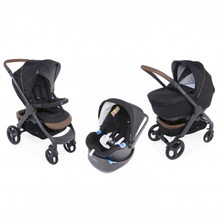 Chicco - pack promo trio poussette style go up pure black
