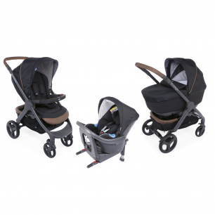 Chicco - pack  promo trio poussette style go up i-size pure black