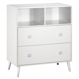 Sauthon - candie commode 2 tiroirs, 2 niches