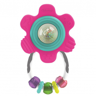 Infantino - go-gaga anneau de dentition shade & teether gummy flower rattle