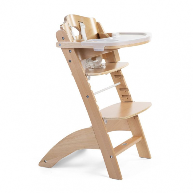 Childhome - chaise lambda 3 natural+tray cover