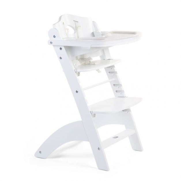 Childhome - chaise lambda 3 white+tray cover