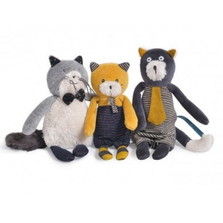 Moulin roty - les moustaches miniature 1 chat (divers modeles)
