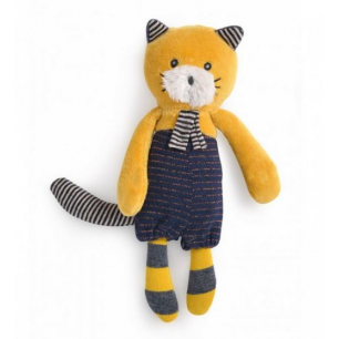Moulin roty - les moustaches miniature chat moutarde lulu