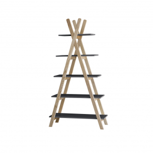 Pericles - tipi etagere 5 planches black