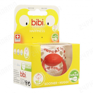 Bibi - i love mama / papa is the best sucette hp 16m+ natural