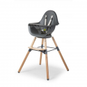 Childhome - evolu one.80° chaise naturel / anthra 2 in 1 + arceau
