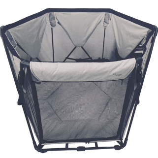 Bo jungle - parc pliable gris foldable playard grey