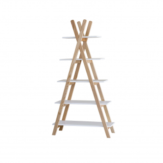 Pericles - tipi etagere 5 planches naturel/blanc