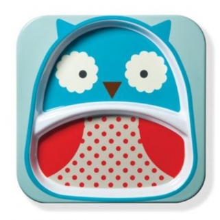 Skip hop - zoo assiette a compartiment hibou