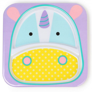 Skip hop - zoo assiette a compartiment licorne