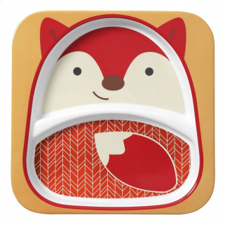 Skip hop - zoo assiette a compartiment renard