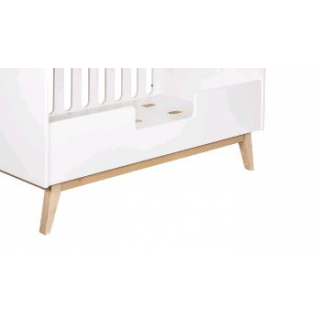 Quax - trendy white barriere pour lit 140x70 evolutif 0-6 ans