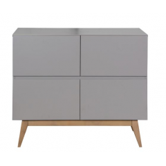 Quax - trendy griffin grey commode 4 tiroirs