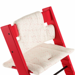 Stokke - coussin tripp trapp geometric red organic cotton
