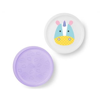 Skip hop - smart serve 2 assiettes licorne