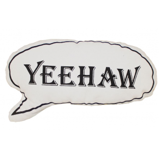 Pericles - coussin yeehaw blanc