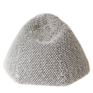 Pericles - dots grey pouf tricot