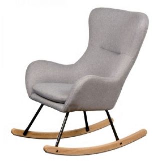 Quax - rocking chair fauteuil allaitement basic - dark grey