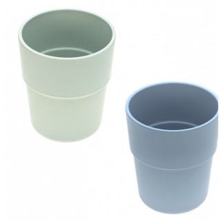 Lassig - set de 2 tasses uni mint/blueberry