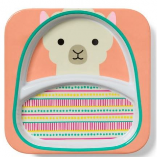 Skip hop - zoo assiette a compartiment lama